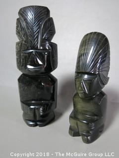 Figural Stone Carvings, obsidium (?)