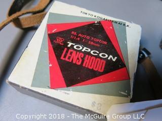 TopCon Film Camera with Auto-Topcor 1:1.4; f5.8cm; Tokyo, Kogaku