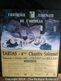 """1993 French Poster of the"""" Festival of de L'Ortolan"""""""