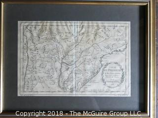 Historical map of Paraguay; circa 1796; Image Size 8 1/2 x 12 12 1/2""