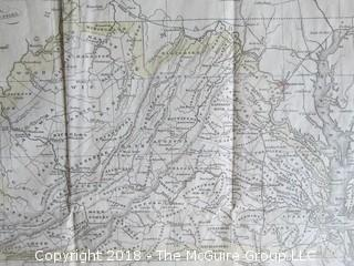 Historical map of Virginia; pre-Civil War; Image Size 11 x 13 1/2""