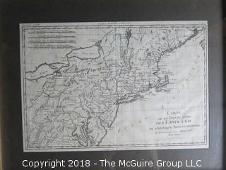 Historical map of North America; circa 1783; Paris and Isle de Fer. Relief shown pictorially. LC Maps of North America, 1750-1789; Contributor: Bonne, Rigobert; Image Size 9 x 12""