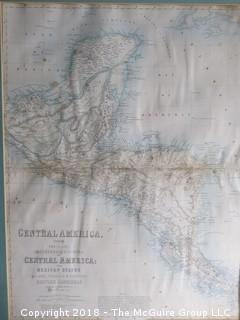 Historical map of Central America; namely the Confederated States Central America, the Mexican states of Chiapa, Tabasco, and Yucatan, and British Honduras; circa 19th c; Image Size; 15 x 20""