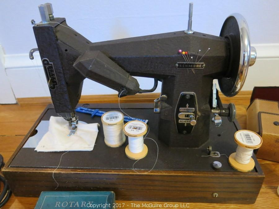 The McGuire Group LLC Auction New OnLine Estate Auction Posted Custom Kenmore Sewing Machine Accessories