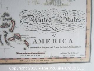 """Historical map of the United States in 1820; reproduction; Image Size 14 x 21"""""""