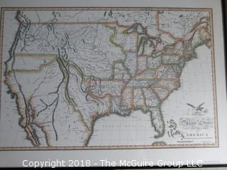 Historical map of the United States in 1820; reproduction; Image Size 14 x 21""