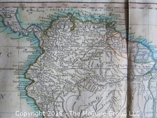 South America with its several divisions of the European Powers, by Thomas Kitchin, Hydroprapher to his Majesty, circa 1794; published by Laurie and Whittle; Image Size 18 x 21 1/2""