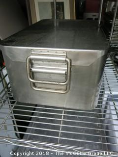 Commercial Covered Roasting Pan; Stainless Steel