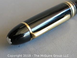 Vintage Mont Blanc Meisterstruck fountain pen, #4810 14k gold nib, needs new piston