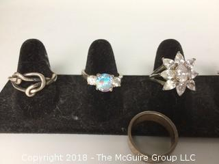 Collection of costume (9) rings