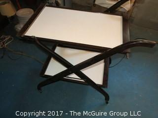 2 shelf, collapsible tea cart table