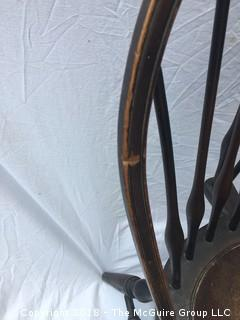 19th Century Set of 2 American Braced Bow Back Windsor Side Chairs