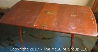 Mid-Century Table with period stenciling;