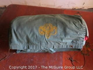 Vintage Girl Scout sleeping bag with cover