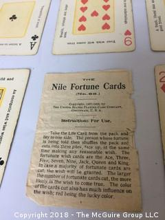 Antique 1904 Nile Fortune Telling Cards in Original Box with Instructions
