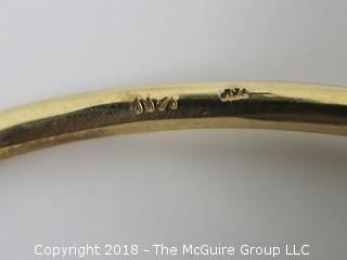 14k gold bracelet; 22 grams {Description altered 11-7-2018 at 12:29pm}