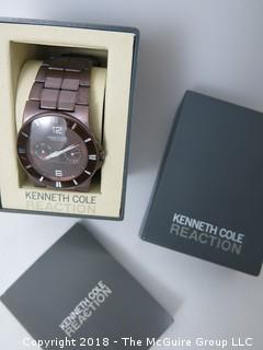 "Kenneth Cole ""Reaction"" Men's Watch, with original box"