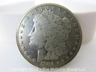 1884 $1 Morgan Silver Dollar