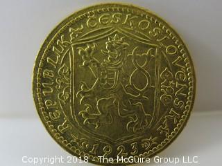 1923 Gold Coin from Czeckoslovakia