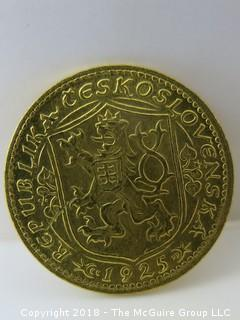 1925 Gold Coin from Czeckoslovakia {Description altered 11.08.2018 at 12:41 pm ET}