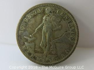 1944 Twenty Centavos Coin