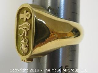 Men's 14K Yellow Gold Ring; 14g