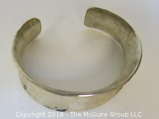 Men's Hammered Sterling Cuff Bracelet; total weight 84g