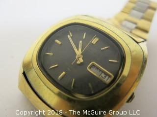 Vintage Seiko Men's Gold Toned Watch w/ Two-Toned Band