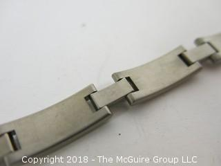 "10"" Two-Toned Titanium Bracelet"