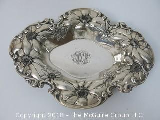 Sterling Repousse Serving Bowl; numbered; total weight ___g