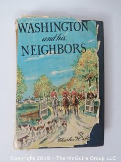 "Book Title: ""Washington and His Neighbors""; author, Henry Stetson (condition poor)"