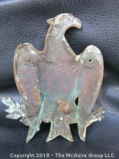 Brass Eagle Door Knocker; early 20th c