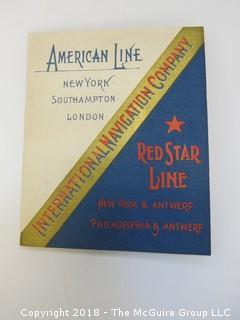 1893 American Steamship Line Schedule Book: New York, Southampton, London