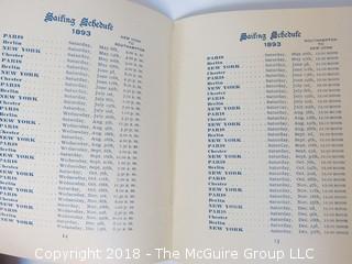 1893 American Red Star Line Schedule Book