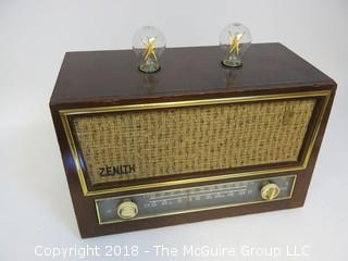 "One of a Kind ""Up-Cycled"" Art Deco/Mid-Century Radio Converted Into Lamp (Edison style bulb not included)"