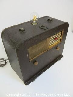 "One of a Kind ""Up-Cycled"" Non-Working Art Deco/Mid-Century Radio Turned Into Light (Edison style bulb not included)"