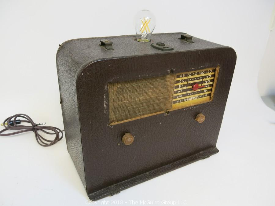 Collection of Table Top Radios; Many Converted To Whimsical Lamps
