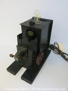 "One of a Kind ""Up-Cycled"" Early Projector Turned Into Light (Edison style bulb not included)"