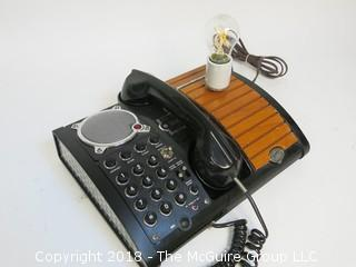 """One of a Kind """"Up-Cycled"""" Art Deco Style/Mid-Century Telephone Turned Into Lamp (Edison style bulb not included)"""