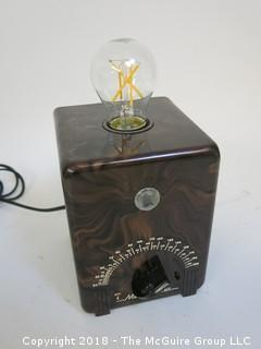 "One of a Kind ""Up-Cycled"" Art Deco/Mid-Century Metronome Turned Into Lamp (Edison style bulb not included)"