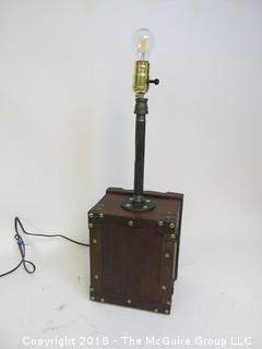 One of a Kind Lamp with Industrial Flair (Edison style bulb not included)