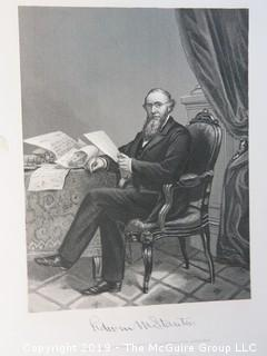 """Old Paper: """"History of the United States""""; collection of photogravure images"""