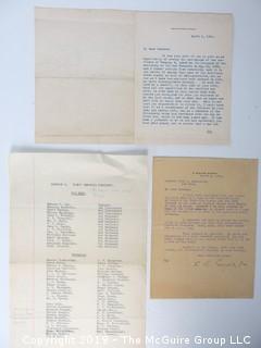 Old Paper: Subject: Confederate Memorabilia re Civil War; Richmond Home Guard Boys - Company G