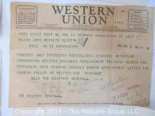 Old Paper: Collection including US military memorabilia of WW II