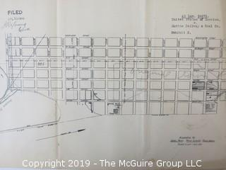 Old Paper: Collection of Maps of Alexandria, VA; circa 1919