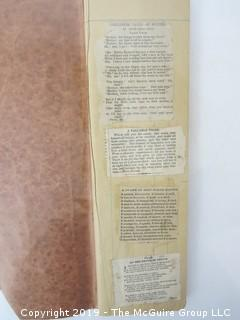 Old Paper: Family Ledger/Scrapbook including newspaper clippings; late 19th c