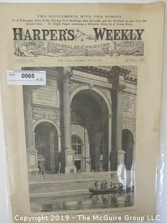 Old Paper: Harper's Weekly Magazine; May 13, 1893