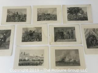 """Old Paper: Collection of photogravures from """"The History of the United States"""""""