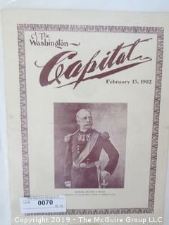 "Old Paper: ""The Washington Capital"" Society Magazine, Feb 15, 1902"