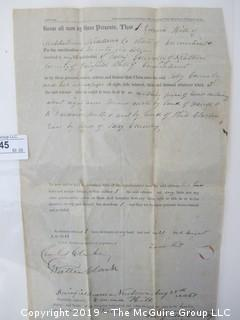 Old Paper: 1851 land records, Fairfield County, CT